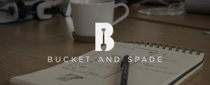 bucket and spade marketing banner